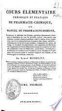 Manuel du pharmacien-chimiste
