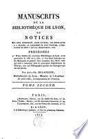 Manuscrits de la Bibliothèque de Lyon