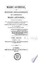 Marc-Aurèle ou histoire philosophique de l'empereur Marc-Antonin