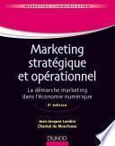Marketing stratégique et opérationnel - 9e éd.