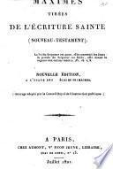 Maximes tirées de l'Ecriture sainte (Nouveau Testament).