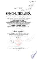 Mélanges médico-littéraires... sur l'Algérie et l'Italie