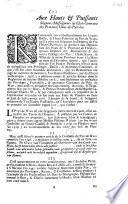 Mémoire présenté à messeigneurs les etats généraux des provinces unies par les Grand-Bailly & Haut-Echevins du Pays de Waes