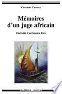 Mémoires d'un juge africain