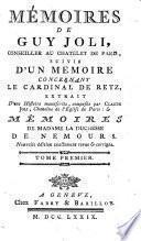 Mémoires de Guy Joli, Conseller au Chatelet de Paris,