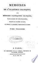 Mémoires de l'Académie celtique