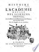 Mémoires de l'Académie royale des sciences