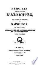 Mémoires de Madame la duchesse d'Abrantès