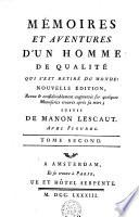 Mémoires et aventures d'un homme de qualité, suivis de Manon Lescaut