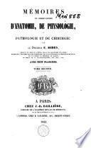 Mémoires et observations d'anatomie, de physiologie, de pathologie et de chirurgie
