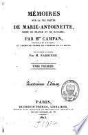Mémoires sur la vie privée de Marie-Antoinette reine de France et de Navarre