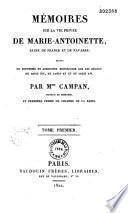 Mémoires sur la vie privée de Marie-Antoinette, reine de France et de Navarre