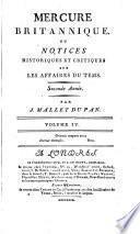 Mercure Britannique, ou notices historiques et critiques sur les affaires du temps