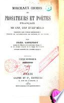 Morceaux choisis des poètes et prosateurs français des XVIIe XVIIIe et XIXe siècles