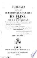 Morceaux extraits do l'Histoire naturelle de Pline