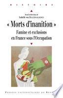 « Morts d'inanition »
