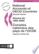 National Accounts of OECD Countries 2005, Volume II, Detailed Tables