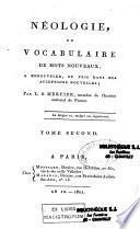 Néologie ou vocabulaire des mots nouveaux