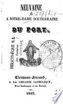 Neuvaine à Notre-Dame souterraine du Port