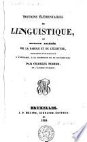 Notions élémentaires de linguistique ou histoire abrégée de la parole et de l'écriture