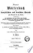 Nouveau dictionnaire français-allemand et allemand français à l'usage de tous les états A. Molé