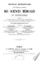 Nouveau dictionnaire lexicographique et descriptif des sciences médicales et vétérinaires