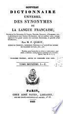 Nouveau dictionnaire universel des synonymes de la langue française,
