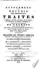 Nouveau recueil de traités d'alliance, de paix, de trève ...