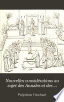 Nouvelles considérations au sujet des Annales et des Histoires de Tacite