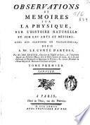 Observations et Memoires sur la Physique, sur L'Histoire Naturelle et sur les Arts et Métiers