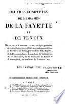 Oeuvres complètes de Mesdames de La Fayette et de Tencin