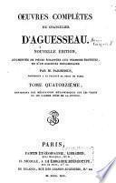 Oeuvres complètes du chancelier d'Aguesseau