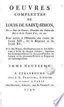 Oeuvres complettes de Louis de Saint-Simon, 5