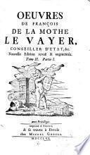 Oeuvres de François de La Mothe Le Vayer