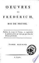 Oeuvres de Frédéric II, roi de Prusse
