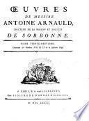 Oeuvres de messire Antoine Arnauld