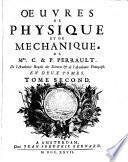 Oeuvres de physique et de mécanique