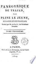 Oeuvres de Pline le Jeune en latin et en français