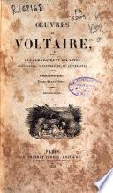 Oeuvres de Voltaire avec des remarques et des notes historiques, scientifiques et littéraires