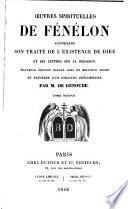 Oeuvres Spirituelles de Fénelon par M.de Genoude