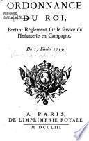 Ordonnance du roi, portant reglement sur le service de l'infanterie en campagne