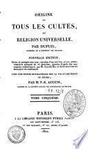 Origine de tous les cultes
