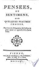 Pensées, Ou Sentimens, Sur Quelques Psaumes Choisis