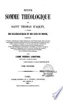 Petite Somme théologique de saint Thomas d'Aquin