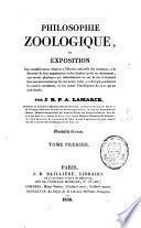 Philosophie zoologique ou exposition des considérations relatives à l'histoire naturelle des animaux
