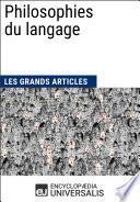 Philosophies du langage