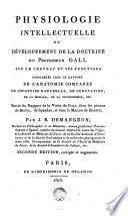Physiologie intellectuelle ou Développement de la doctrine ...