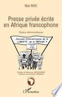 Presse privée écrite en Afrique francophone