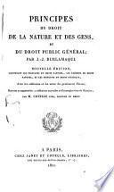 Principes du droit de la nature et des gens, et du droit public général