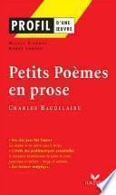 Profil - Baudelaire : Petits Poèmes en prose